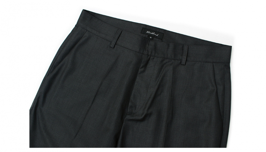 블랙하인드 Basic Slacks-Charcoal-